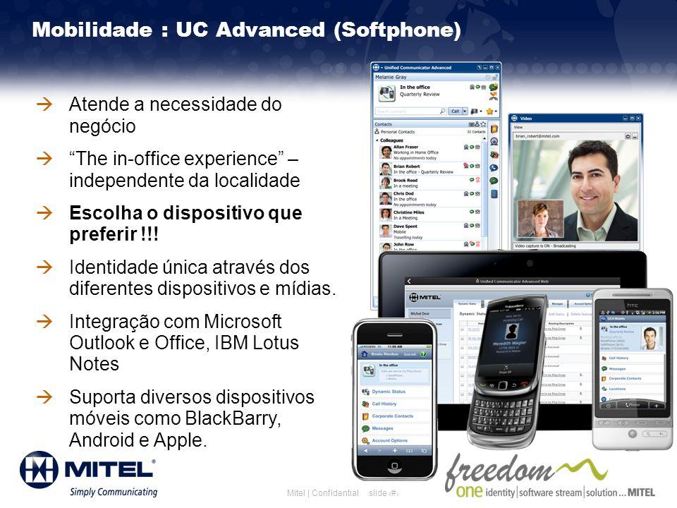 Mobilidade : UC Advanced (Softphone)