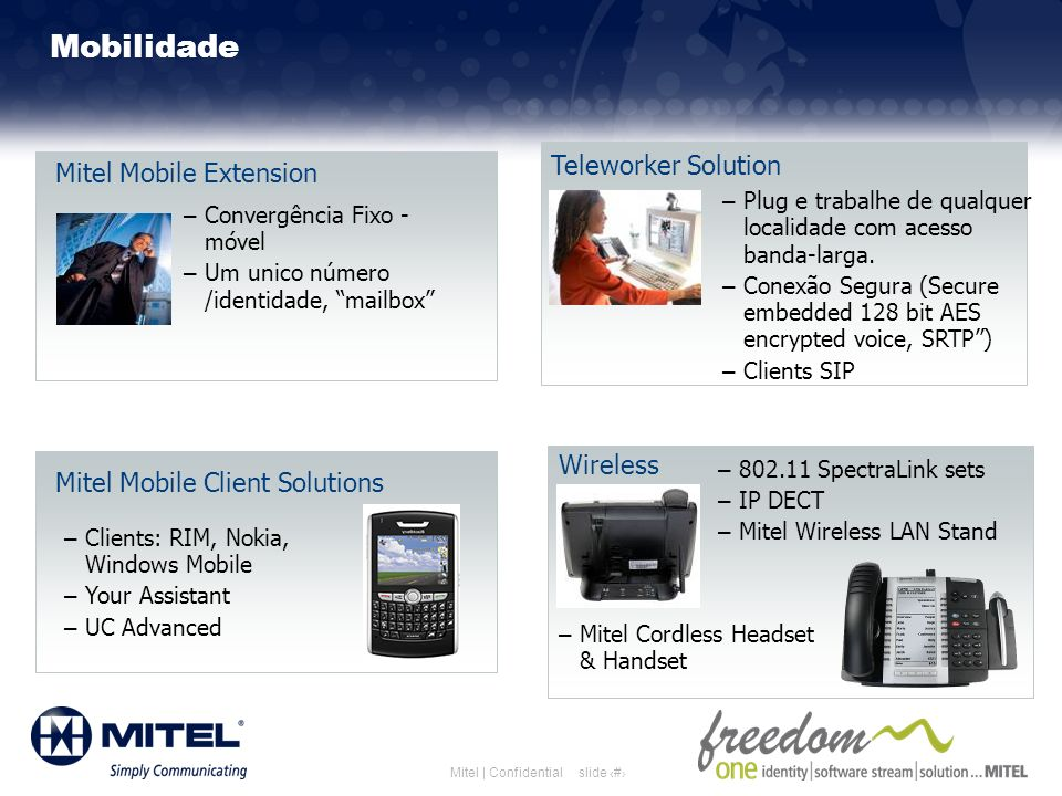 Mobilidade Teleworker Solution Mitel Mobile Extension Wireless