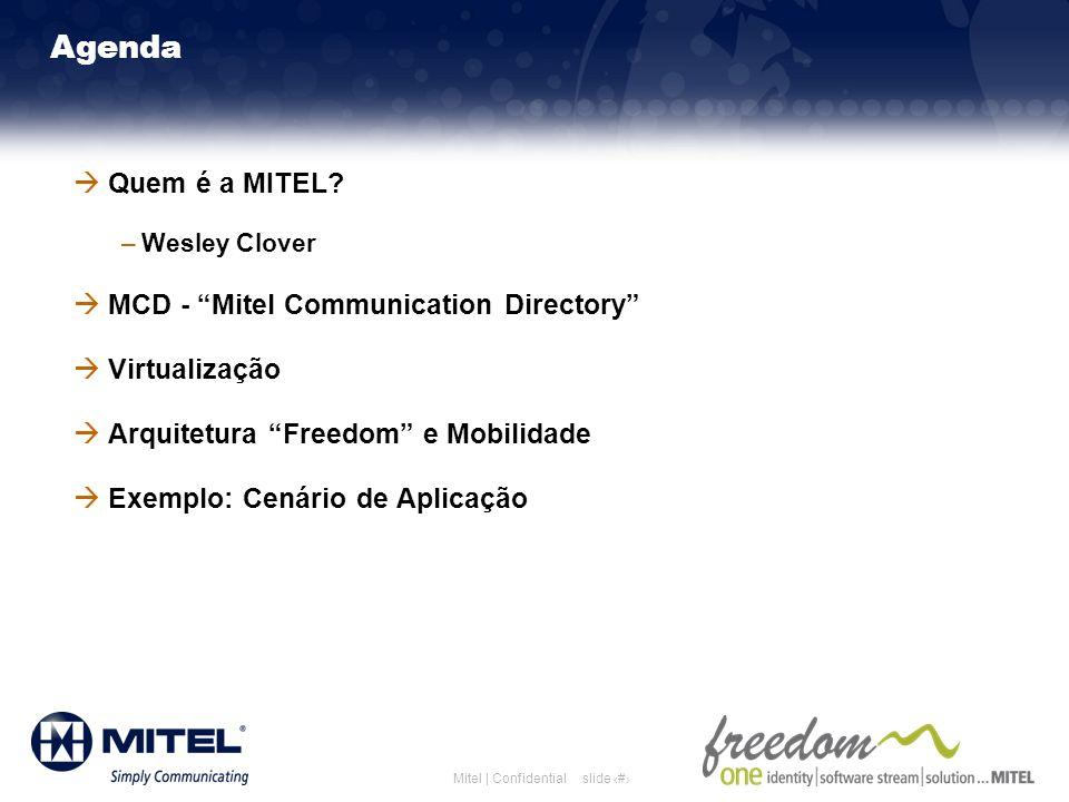 Agenda Quem é a MITEL MCD - Mitel Communication Directory
