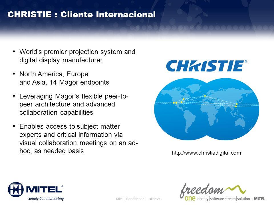 CHRISTIE : Cliente Internacional