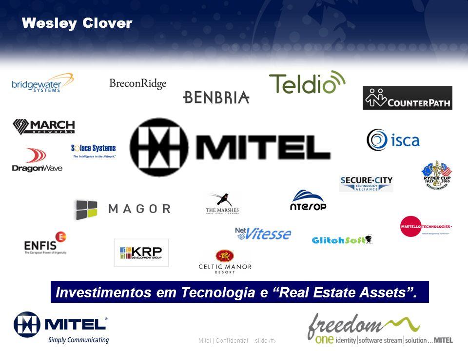 Investimentos em Tecnologia e Real Estate Assets .