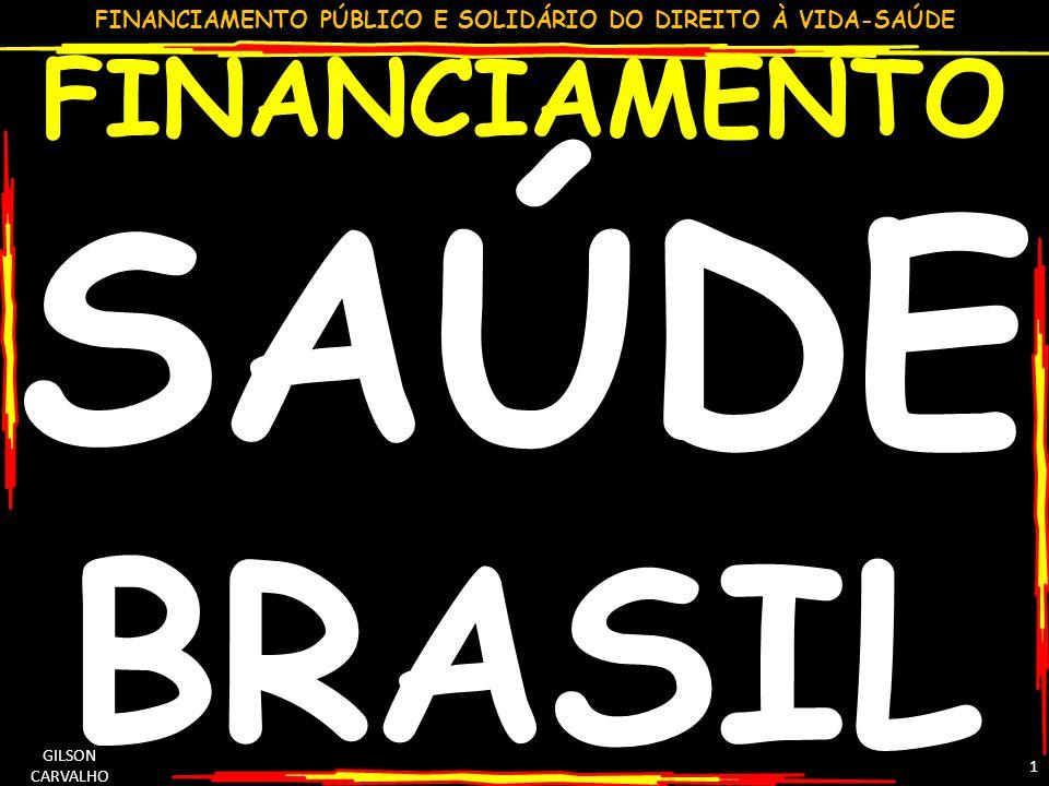FINANCIAMENTO SAÚDE BRASIL GILSON CARVALHO