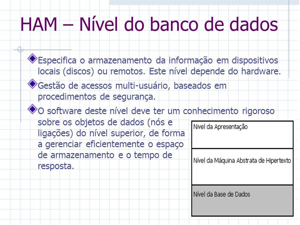HAM – Nível do banco de dados