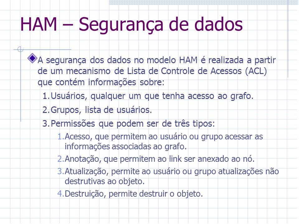 HAM – Segurança de dados