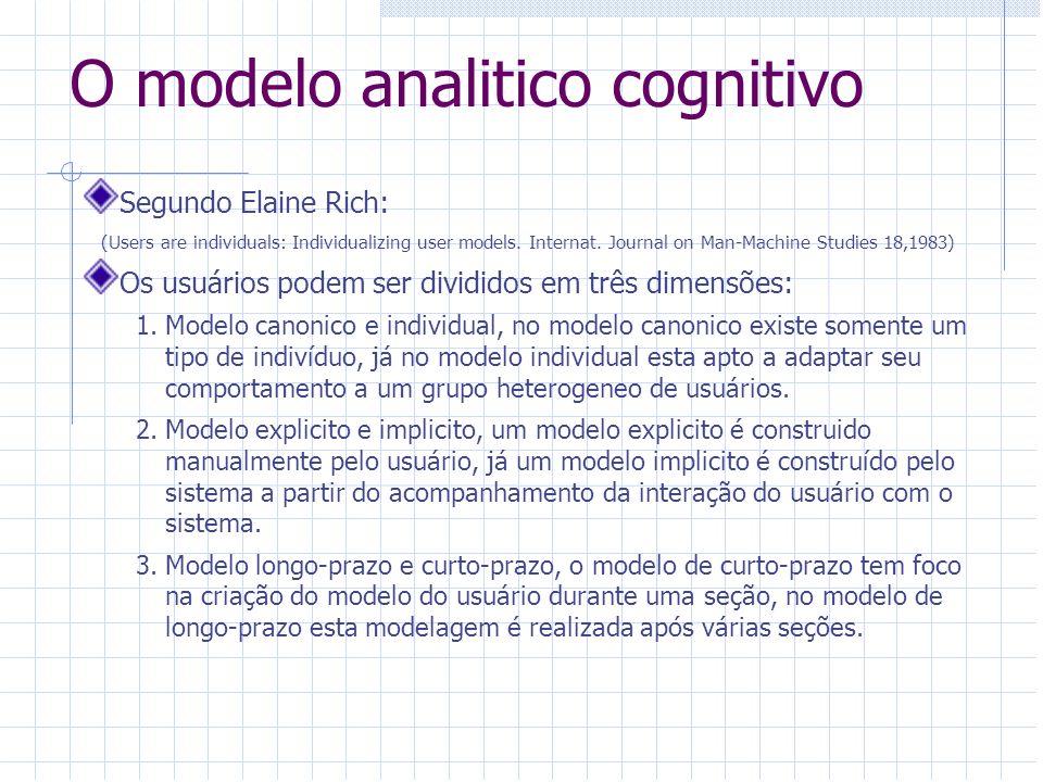 O modelo analitico cognitivo