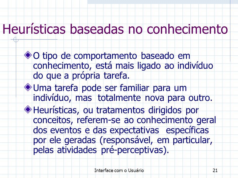 Heurísticas baseadas no conhecimento