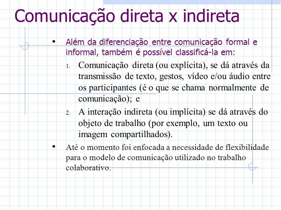 Comunicação direta x indireta