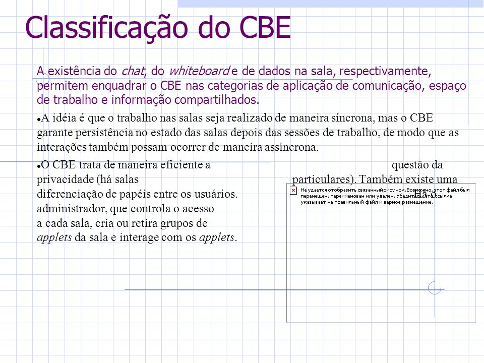 Classificação do CBE