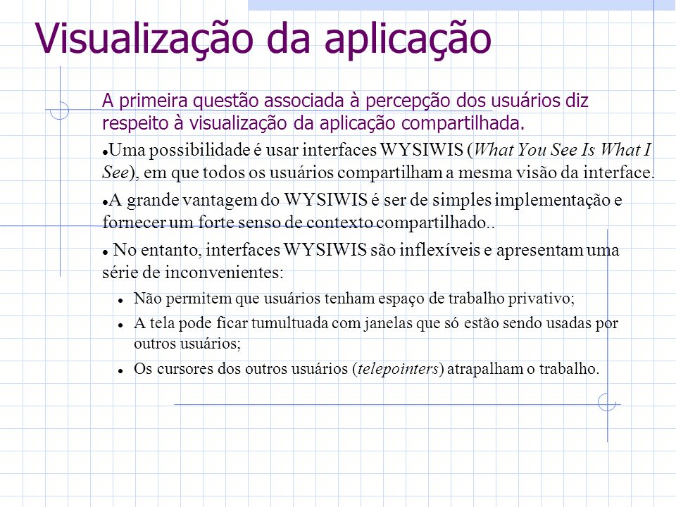 Visualização da aplicação