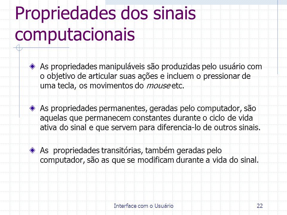 Propriedades dos sinais computacionais