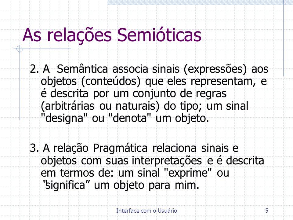 As relações Semióticas