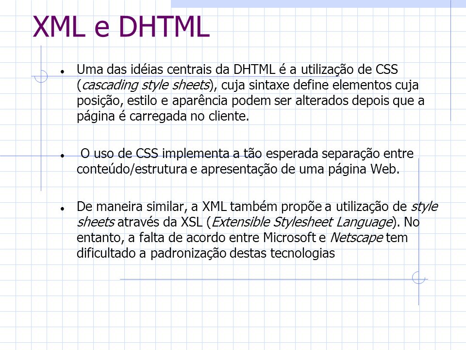 XML e DHTML
