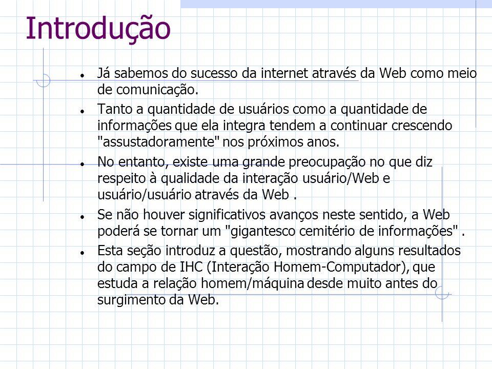 IntroduçãoJá sabemos do sucesso da internet através da Web como meio de comunicação.