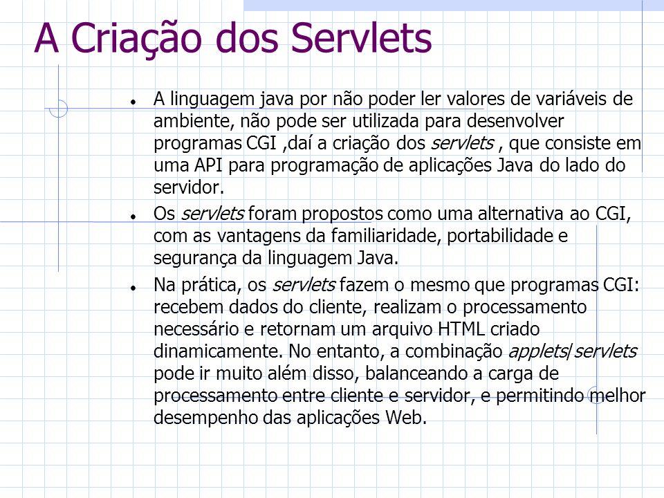 A Criação dos Servlets