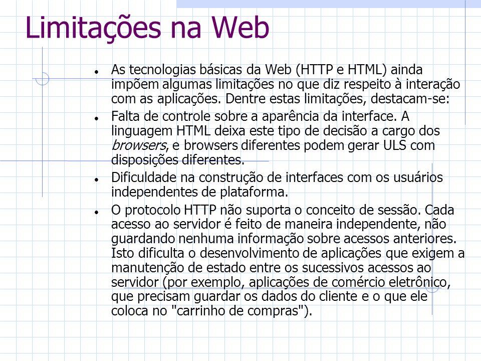 Limitações na Web
