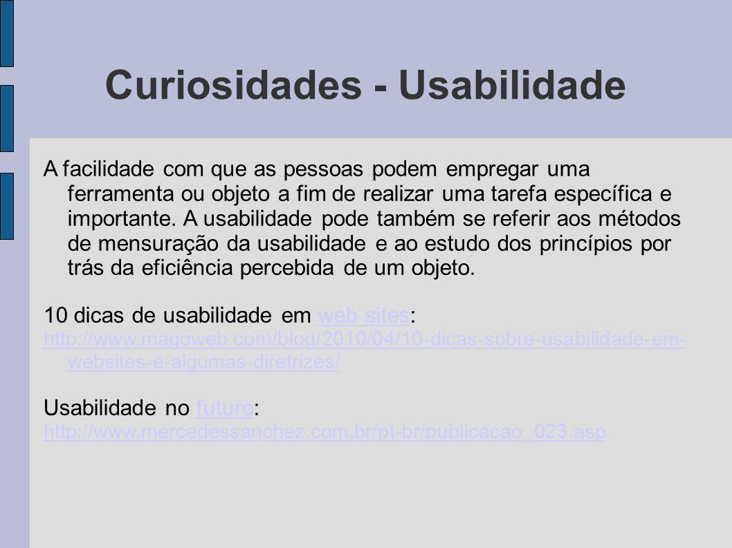 Curiosidades - Usabilidade