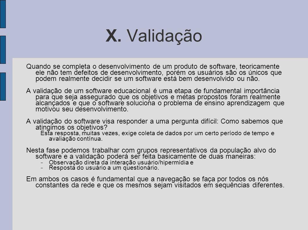 X. Validação