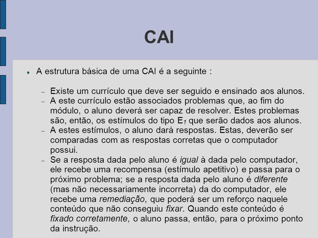 CAI A estrutura básica de uma CAI é a seguinte :