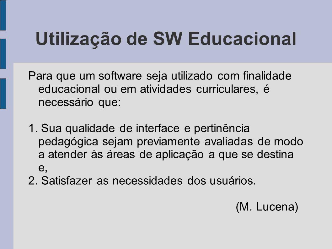 Utilização de SW Educacional
