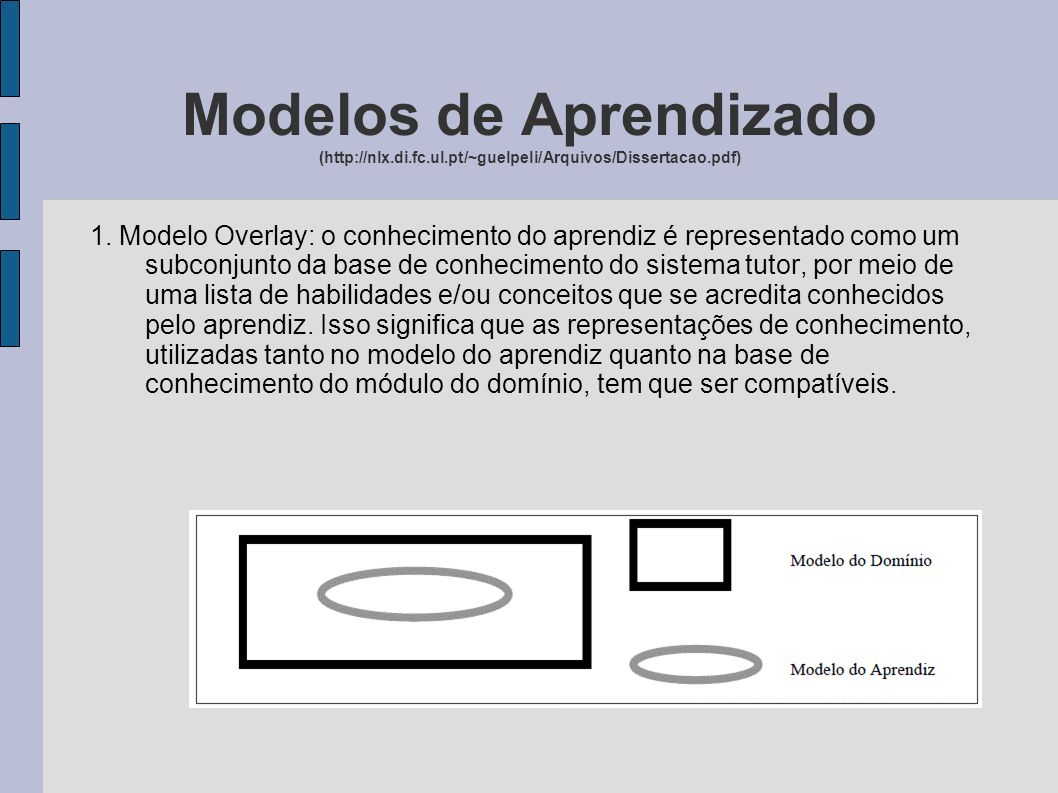 Modelos de Aprendizado (http://nlx. di. fc. ul