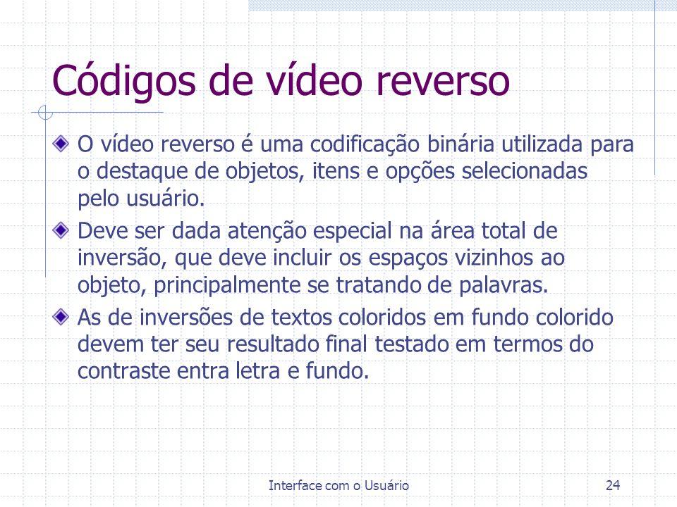 Códigos de vídeo reverso