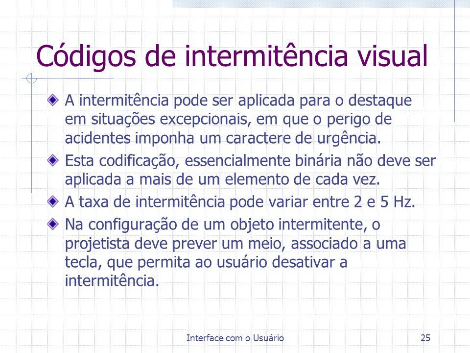 Códigos de intermitência visual