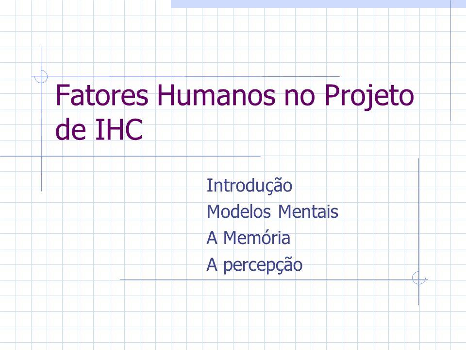 Fatores Humanos no Projeto de IHC