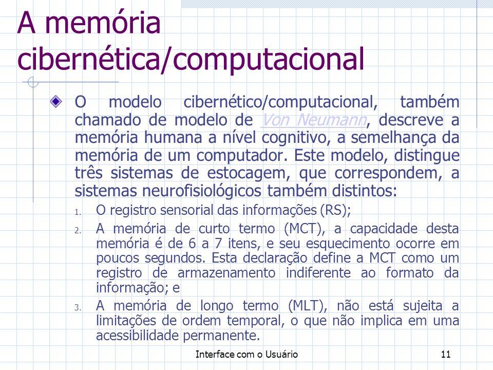 A memória cibernética/computacional
