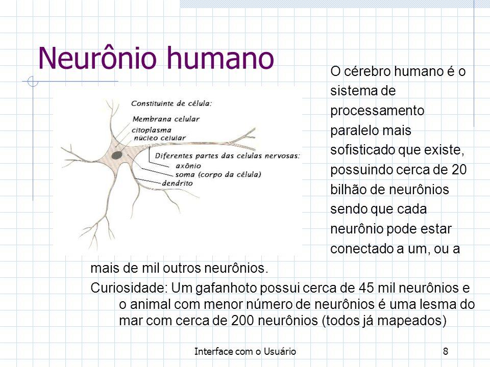 Neurônio humano O cérebro humano é o sistema de processamento