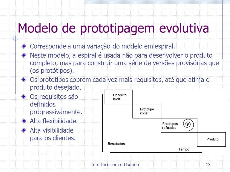 Modelo de prototipagem evolutiva