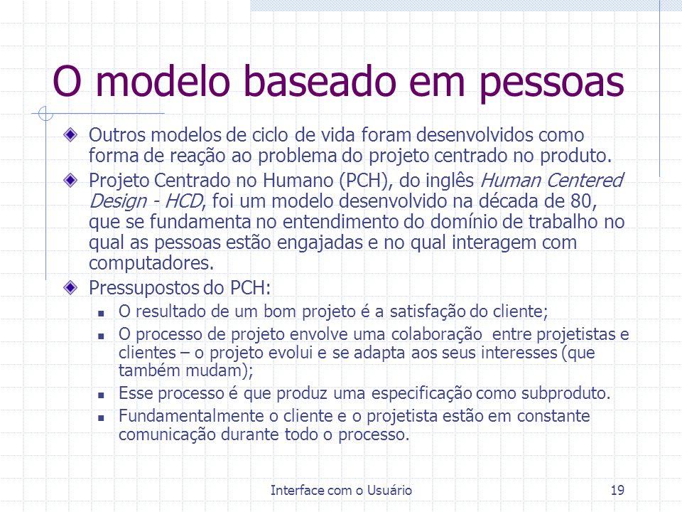 O modelo baseado em pessoas