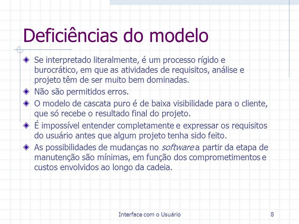 Deficiências do modelo