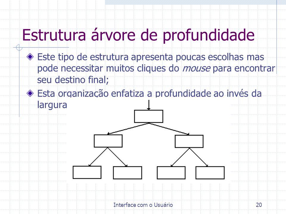 Estrutura árvore de profundidade