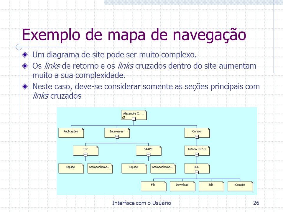 Exemplo de mapa de navegação