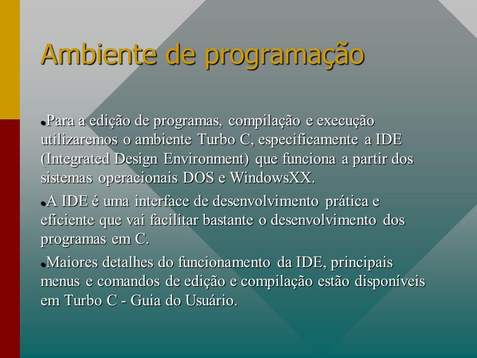 Ambiente de programação