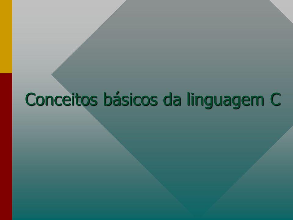 Conceitos básicos da linguagem C
