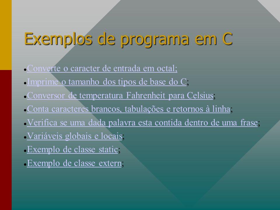 Exemplos de programa em C