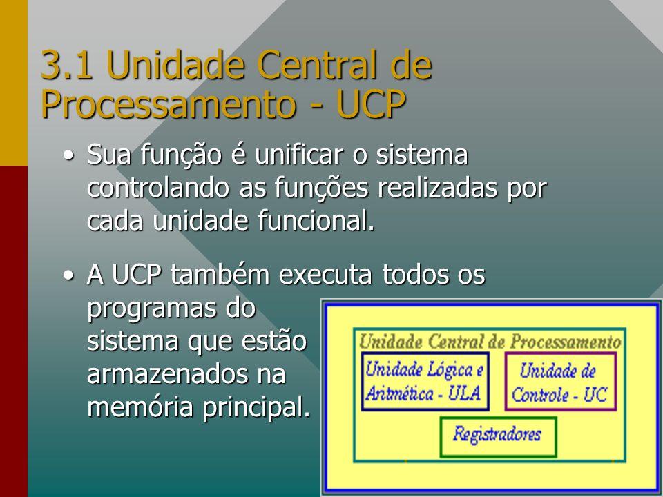 3.1 Unidade Central de Processamento - UCP