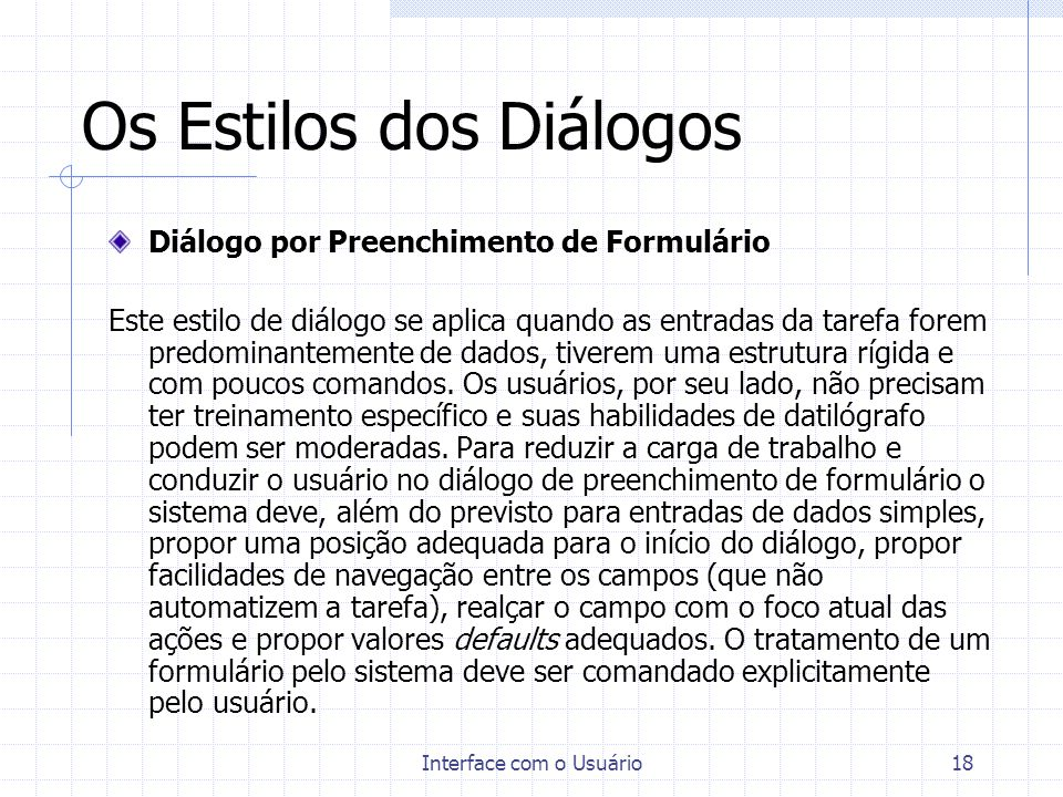 Os Estilos dos Diálogos