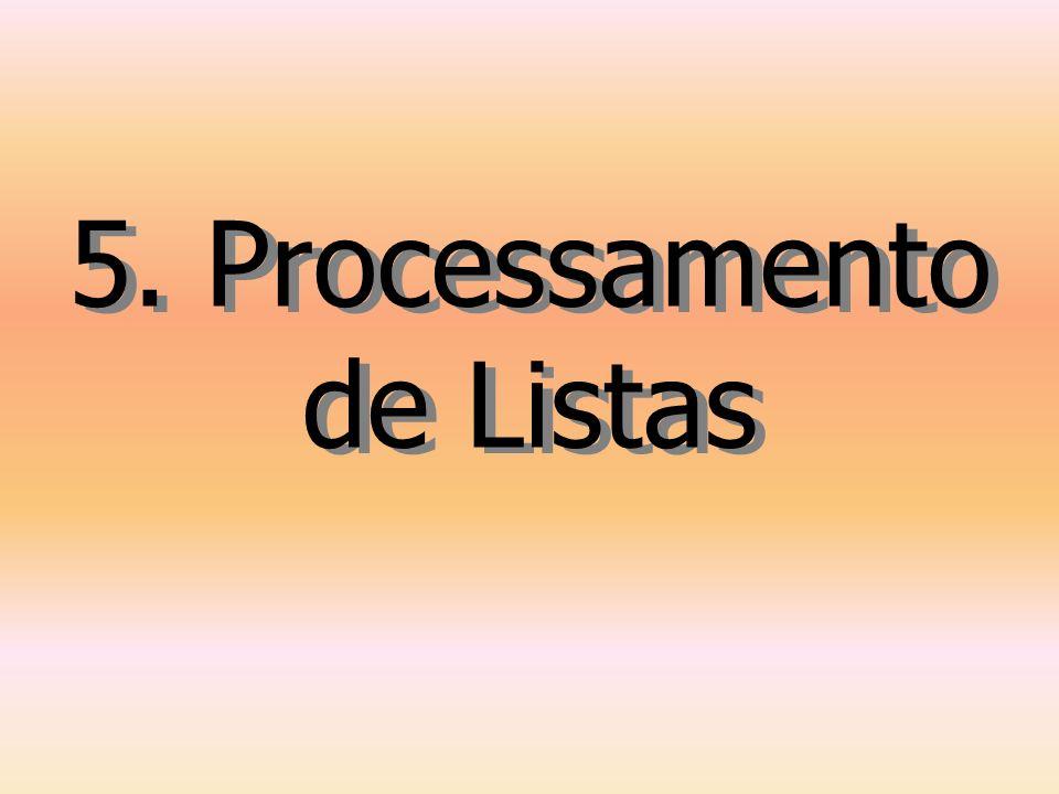 5. Processamento de Listas