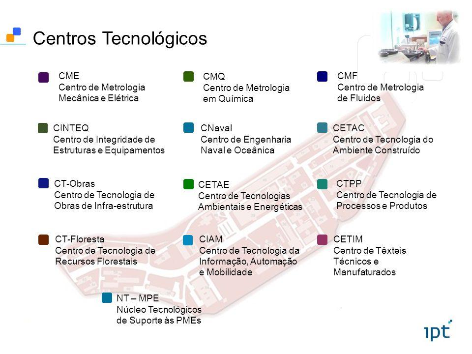 Centros Tecnológicos CME Centro de Metrologia Mecânica e Elétrica CMQ