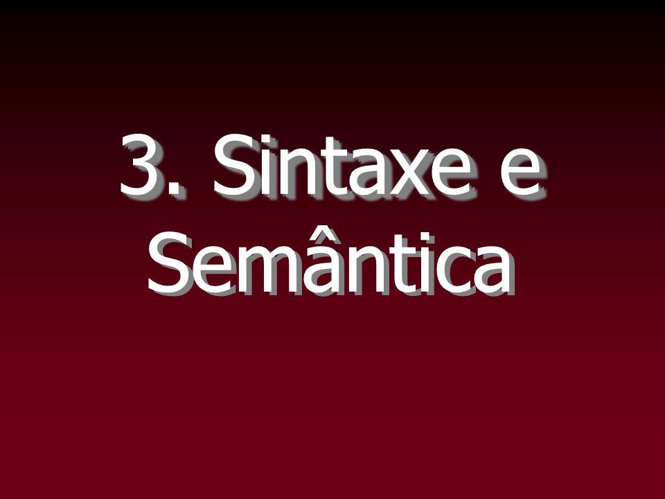 3. Sintaxe e Semântica