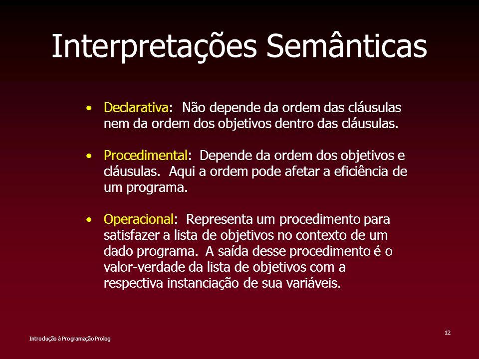 Interpretações Semânticas