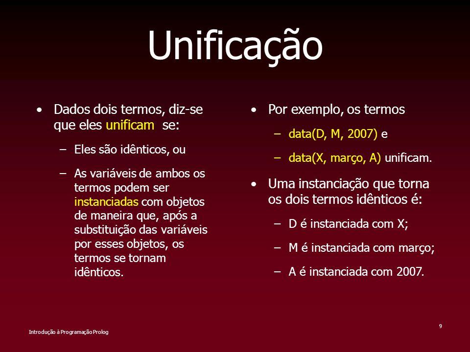 Unificação Dados dois termos, diz-se que eles unificam se:
