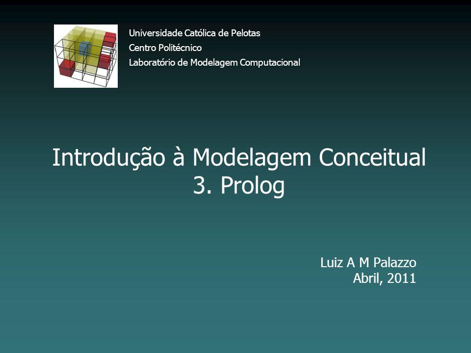 Introdução à Modelagem Conceitual 3. Prolog