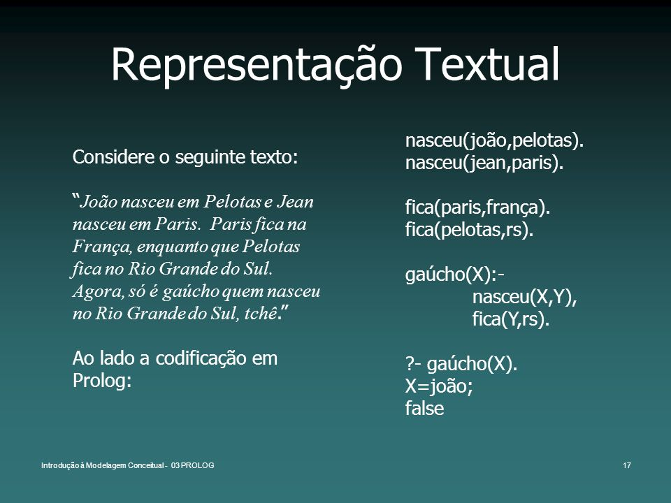 Representação Textual