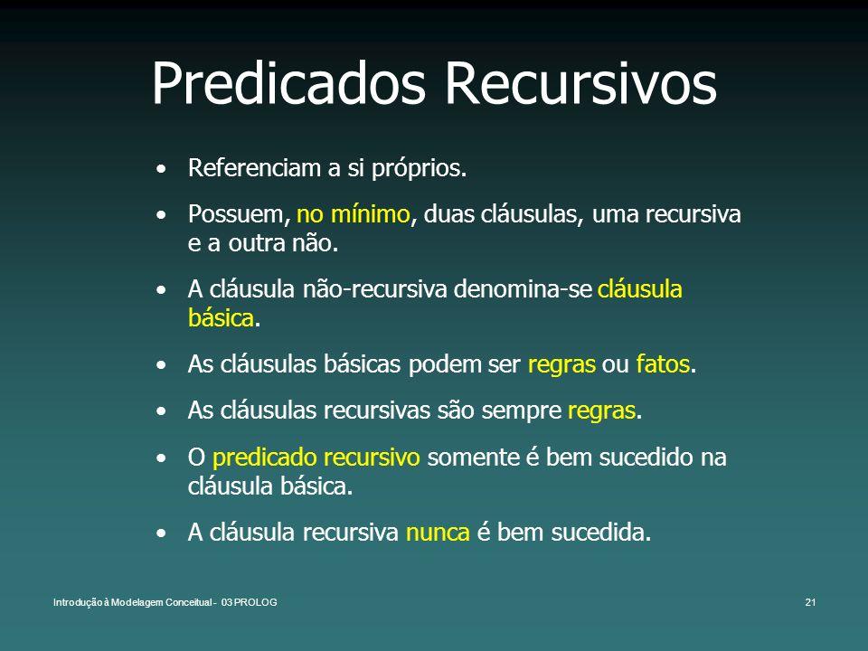 Predicados Recursivos