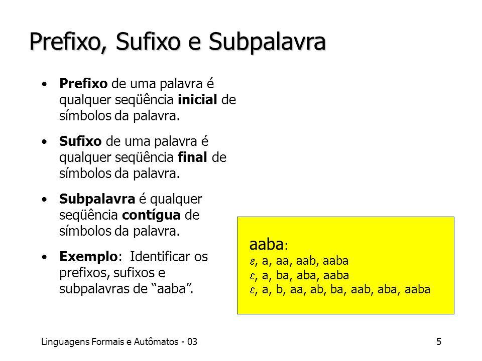 Prefixo, Sufixo e Subpalavra