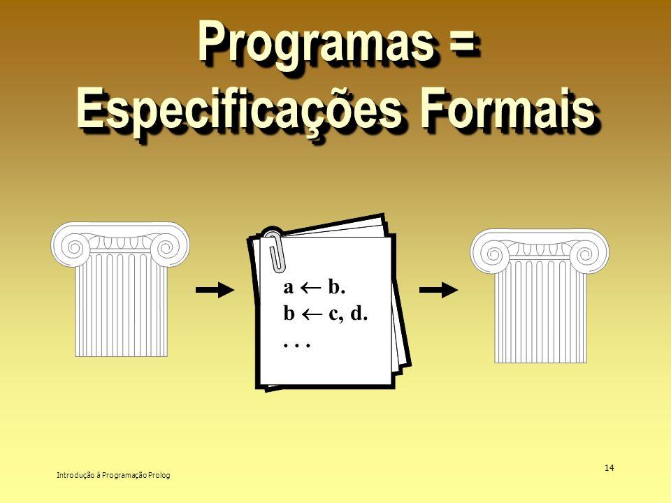 Programas = Especificações Formais