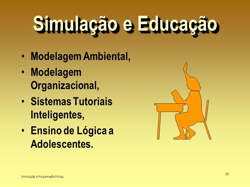 Simulação e Educação Modelagem Ambiental, Modelagem Organizacional,